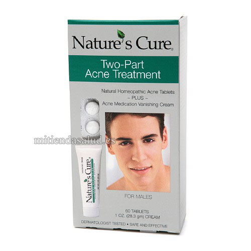 Tratamiento para el acne para hombres - 2 partes  Nature's Cure