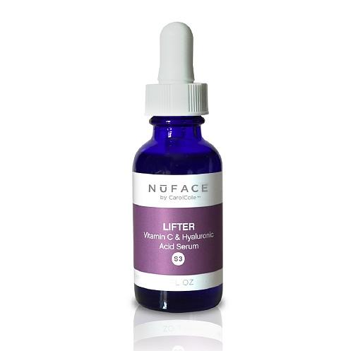 NuFace Lifter (S3) Vitamin C y Serum Acido Hialuronico 1 Fl Oz