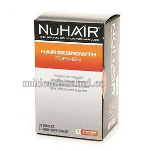 NuHair Hair Regrowth - Tratamiento para el crecimiento del cabello para hombres  60 Tabletas