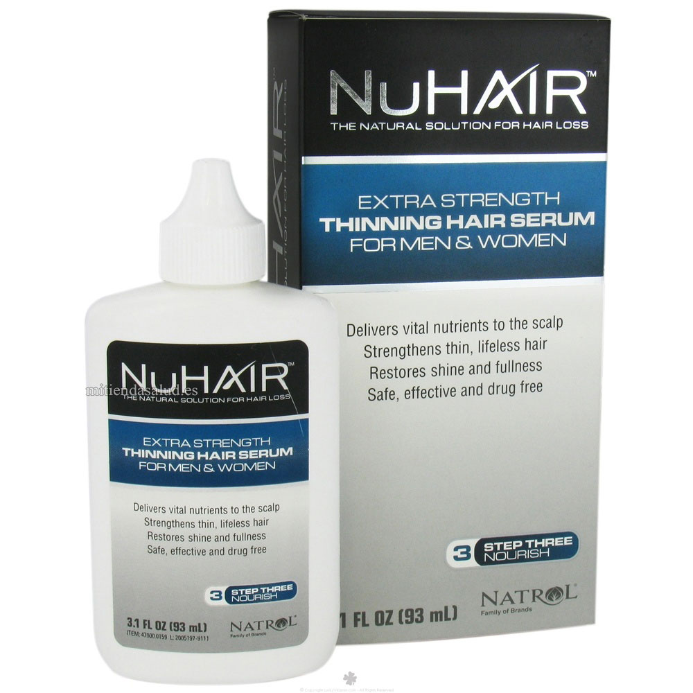 NuHair Thinning Hair Serum Extra Fuerte para hombres y mujeres 3.1 oz