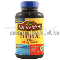 Omega 3 Aceite de Pescado 1200 mg - Nature Made -180 capsulas