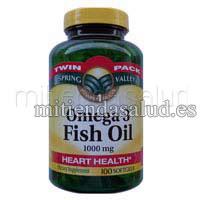 Omega 3- Aceite de Pescado 1000 mg- 200 capsulas