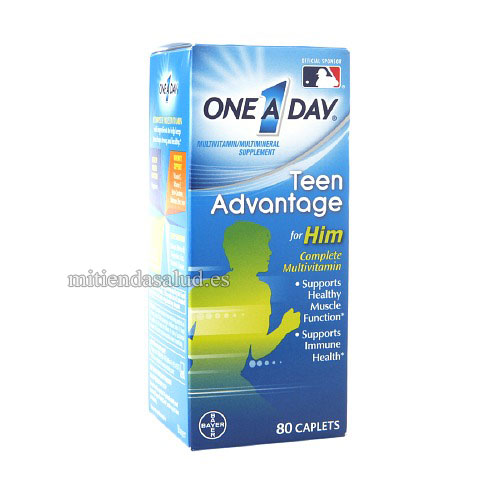 One a day teen advantage vitaminas para jóvenes 80 capsulas