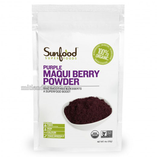 Organic Maqui berry (en polvo) Powder SunFood Superfoods 4 oz