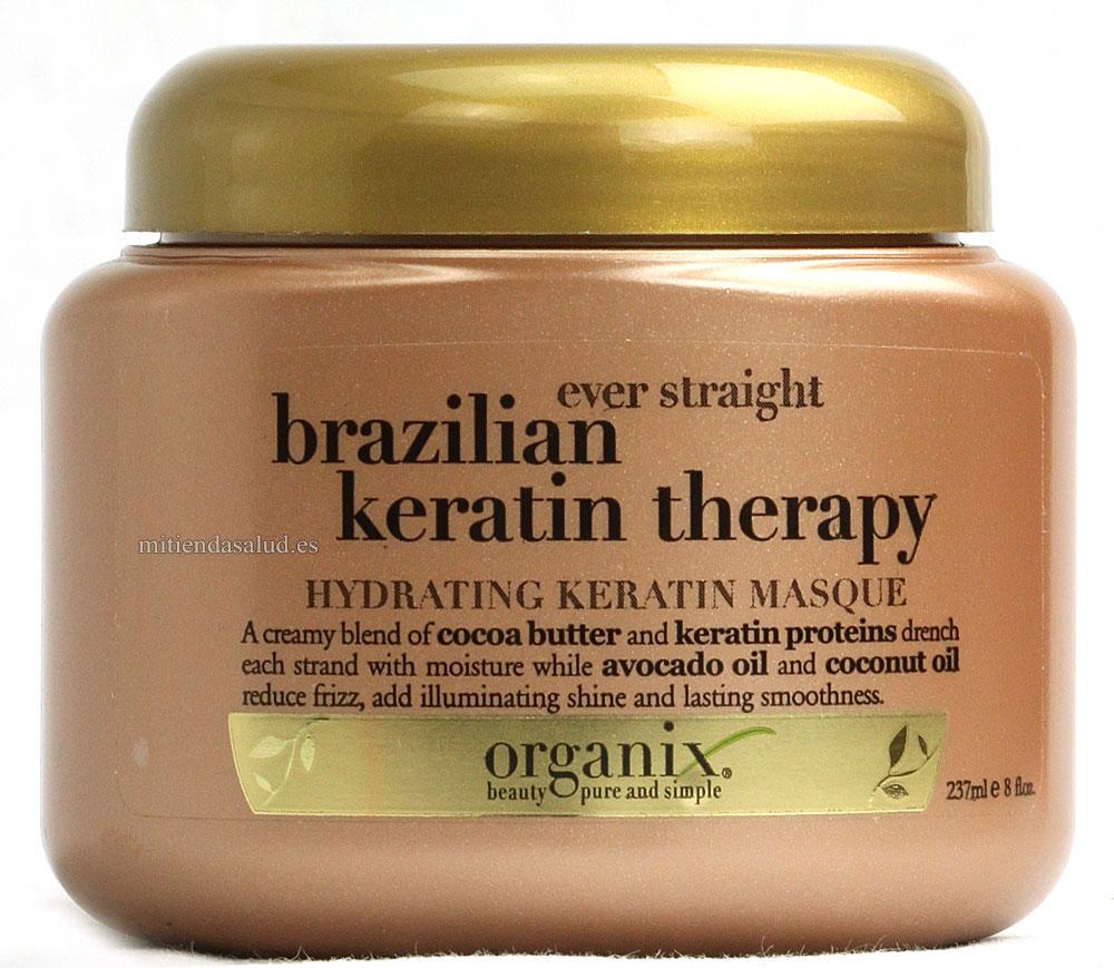 Organix Ever Alisado brasileno Keratina Terapia mascara hidratante 8 oz