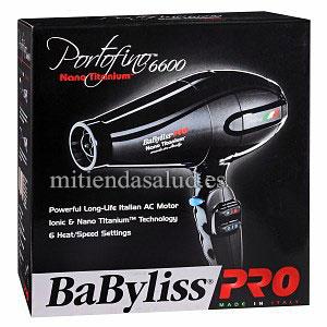 Portofino 6600 Nano Titanium Secador del Pelo Babyliss Pro