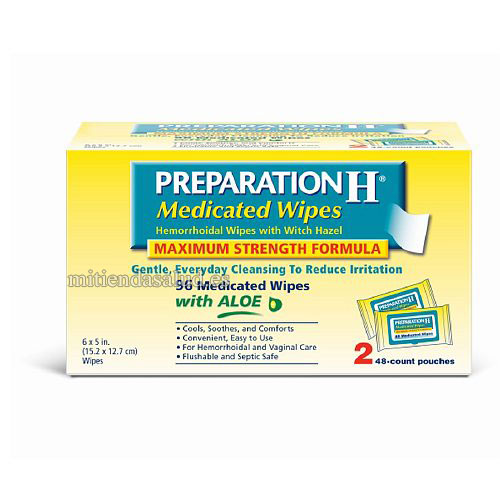 Preparation H Toallas humedas 96 toallitas