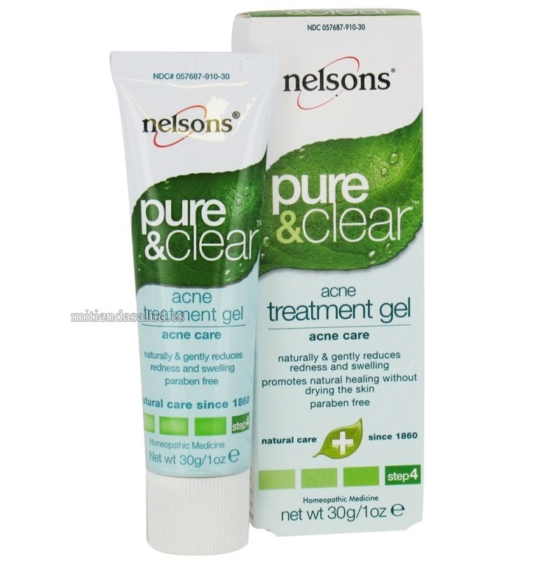 Pure & Clear Tratamiento Acne Gel Nelsons 1 oz.