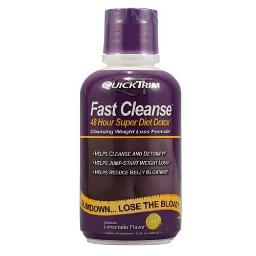 Quicktrim Fast Cleanse 48 horas de super dieta Detox sabor a Limonada 16fl oz