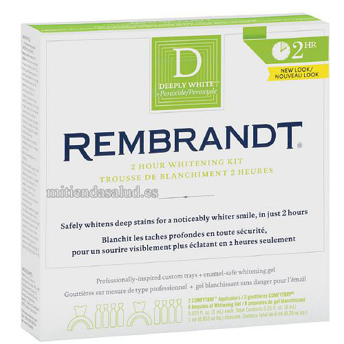Rembrandt blanqueamiento dental 2 horas 1 kit
