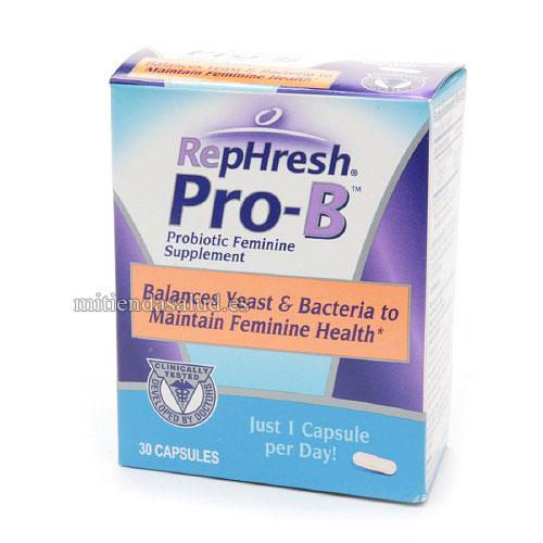 RepHresh Pro-B Suplemento probiotico femenino 30 capsulas