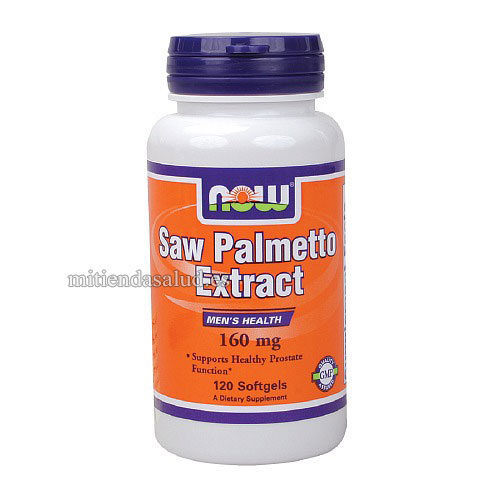 Saw Palmetto Doble Fuerza 160 mg NOW Foods 120 capsulas