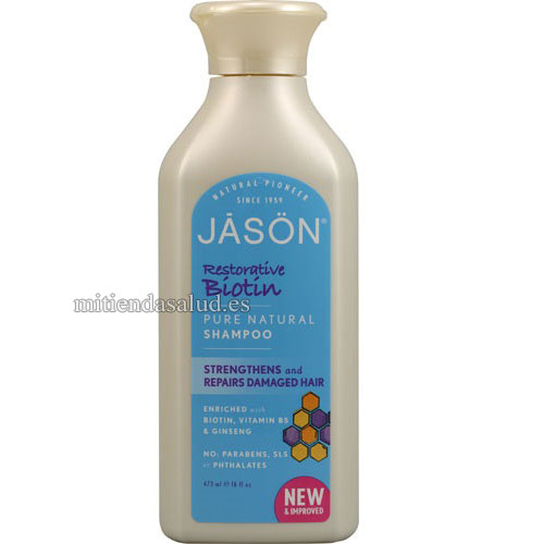 Shampoo Revitalizante Biotina Jason Pure Natural 16 fl oz