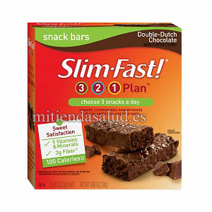 Slim-Fast 3-2-1 Plan 100 Calorias Snack Barritas 6 packs Double Chocolate