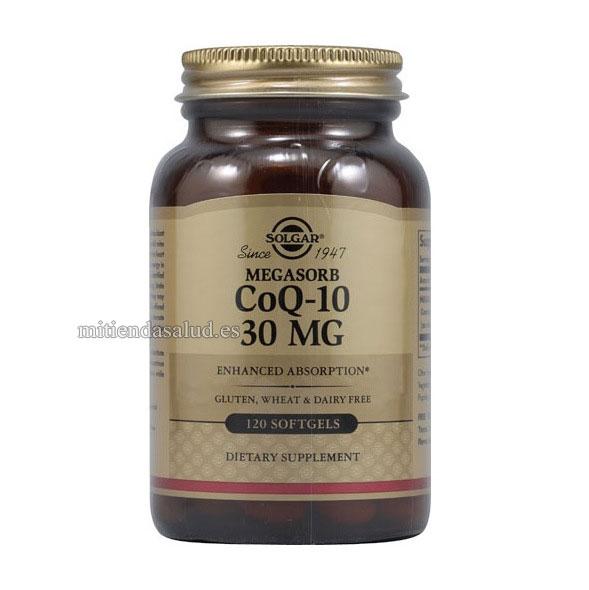 Megasorb CoQ-10 Solgar 30 mg 120 capsulas