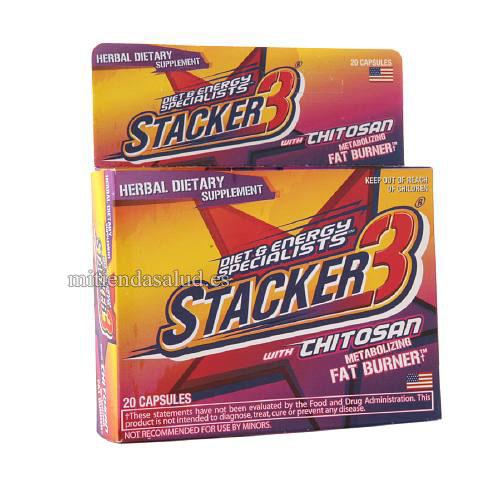 Stacker 3 quemador de grasa con Chitosan 20 capsulas