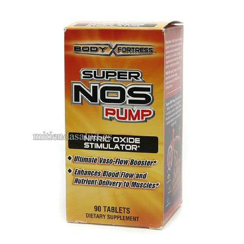 Super NOS Pump Estimulador Oxido Nitrico Body Fortress 90 capsulas