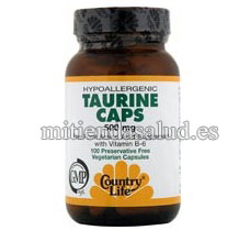 Taurina 500 mg Country Life 100 capsulas