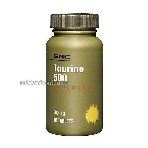 Taurine 500 mg GNC 50 capsulas