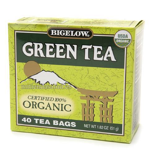 Te verde Organico Descafeinado Bigelow 40 bolsitas