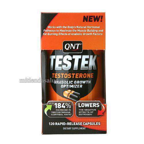 TESTEK Optimizador de crecimiento de testosterona QNT 120 capsulas