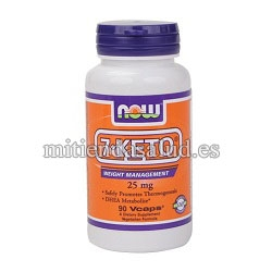 7-Keto 25mg Now Foods 90 capsulas