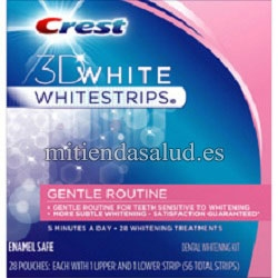 Crest 3D Whitestrips Gentle Routine 28 tratamientos