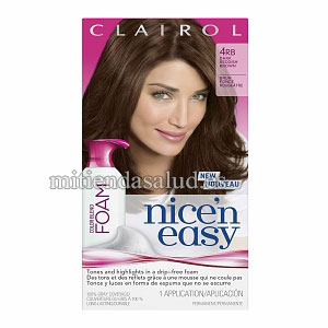 Tinte para el pelo Clairol Nice'n Easy Foam 4RB Dark Reddish Brown (Pack of 4)