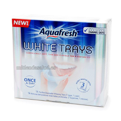 Aquafresh White trays - tiras blanqueadoras 14 tiras