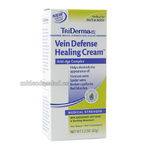 TriDerma MD Vein Defense Healing Cream-crema para varices 62 g