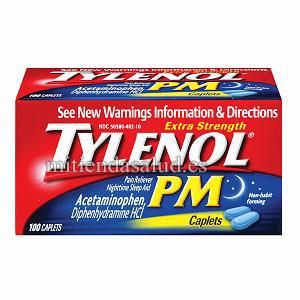 Tylenol PM (acetaminophen) analgesico ayuda a dormir 24 capsulas