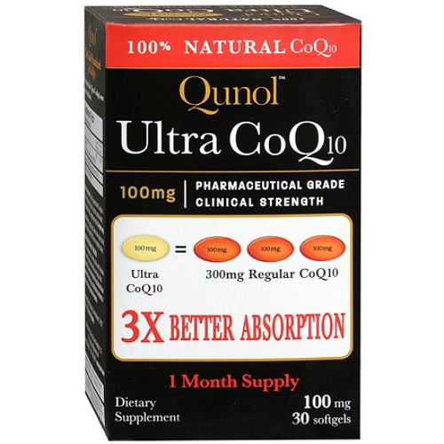 Ultra CoQ10 100 mg Qunol 30 capsulas