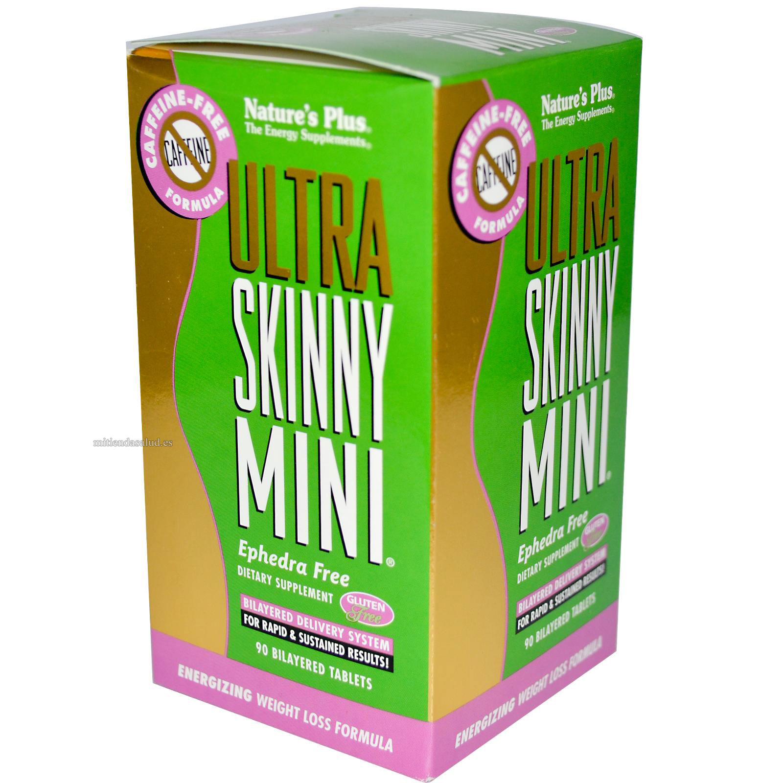 Ultra Skinny Mini sin-cafeina Nature's Plus 90 capsulas