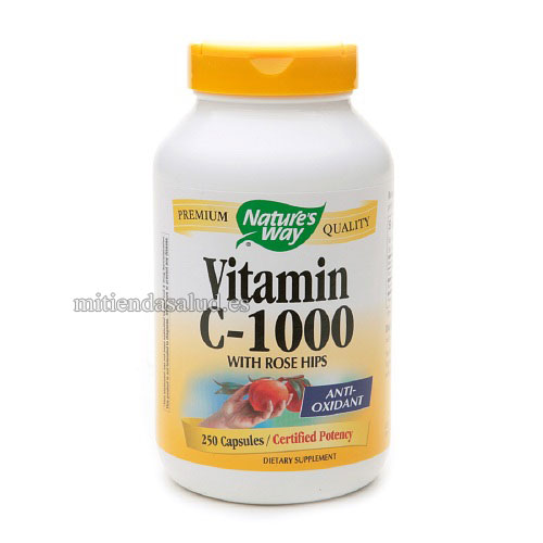 Vitamina C con Escaramujo 1000mg Nature's Way 250 capsulas
