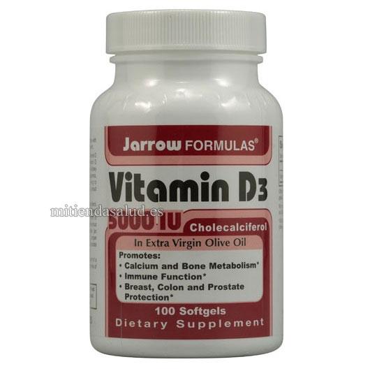 Vitamina D3 5000 IU Jarrow Formulas 100 capsulas