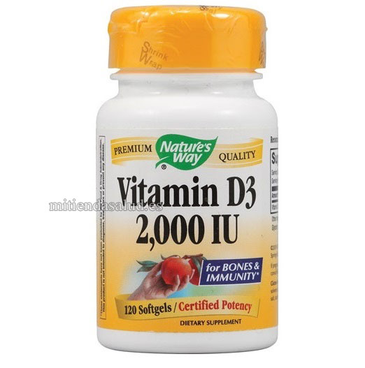 Vitamina D3 2000 IU Nature's Way 120 capsulas