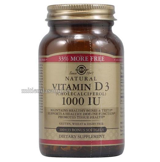Vitamina D3 Colecalciferol 1000 IU Solgar 100 capsulas