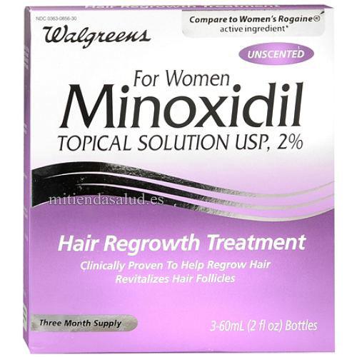 Minoxidil Walgreens Tratamiento para caida de cabello Mujeres