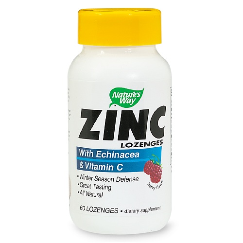 Zinc Lozenges con Echinacea y Vitamin C Nature's Way 60 capsulas Berry